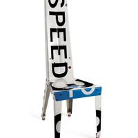 SPEED CHAIR | Unique, Quirky Recycled Speed Limit Road Sign Chair, Handmade by Boris Bally | UncommonGoods
