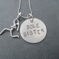 Sterling Silver SOLE SISTER Necklace - Sterling silver pendants with 16 inch sterling silver chain - Additional lengths available