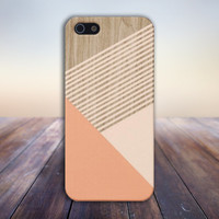 Peach x Champagne Pink Striped Wood Design Case for iPhone 6 6+ iPhone 5 5s 5c iPhone 4 4s and Samsung Galaxy s5 s4 & s3