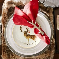 Holiday Forest Salad Plates, Set of 4