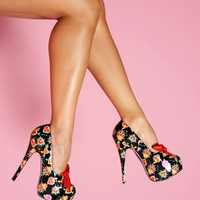 Sacred Heart Platform from Pinup Couture Shoes | Pinup Girl Clothing