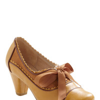 Notch Your Step Heel in Caramel | Mod Retro Vintage Heels | ModCloth.com