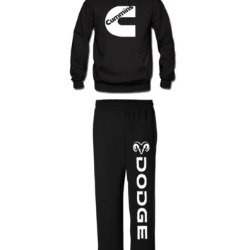 cummins matching hoodie sweatpants dodge cummins matching hoodie and sweatpants - black / 3XL / XL