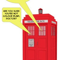 Blank Card - Colour blind Doctor Who - Funny Greeting Card