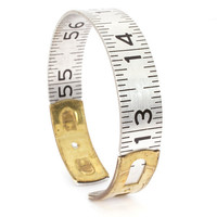 Handmade Vintage Lufkin Ruler Bangle by jacqvon on Etsy