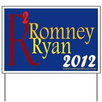 Romney-Ryan Blue Yard Sign