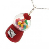 Handmade Gifts | Independent Design | Vintage Goods Gumball Machine Necklace - Yummy Goods