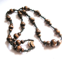 Woodland Greens & Browns Beadwork Necklace