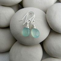 Milky Green Quartz Gemstone Drops