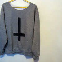 off the shoulder Inverted cross sweatshirt  Small