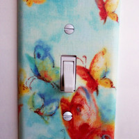 Butterflies In Flight Single Toggle Switchplate Switch Plate