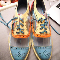 Hand Made Leather and Transparent Oxford Shoes