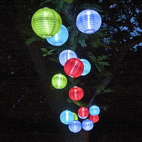 String Of 20 Chinese Solar Lanterns