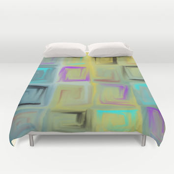 abstract 1002 Duvet Cover by Ramon Martinez Jr