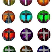 5 Digital Collage Sheets of Cross Designs by barbosaart on Zibbet