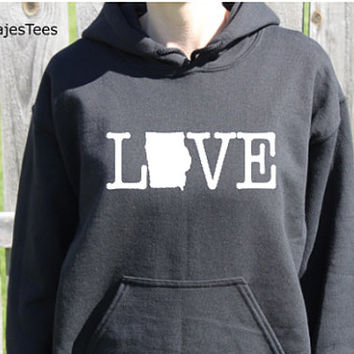 Love Iowa Hoodie, Iowa Sweatshirt, Home State Shirt