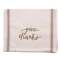 Primitives by Kathy 'Give Thanks' Tea Towel
