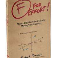 F For Effort! | Mod Retro Vintage Books | ModCloth.com