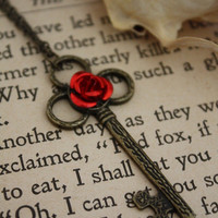 Beauty and the Beast Key Necklace