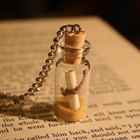 Glass Vial Necklace - Message in a Vial