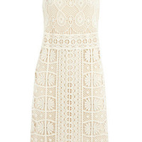 Ivory Lace Crochet Dress