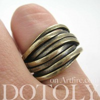 Woven Spoon Ring in Bronze - Sizes 5 to 7 Available
