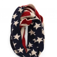 Free With $100 Purchase - American Flag Infinity Scarf