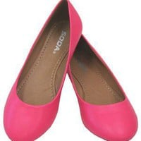 Scout Hot Pink Neon Vegan Ballerina Flats