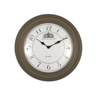 Ashton Sutton Round Wall Clock in Truffle - YF091109