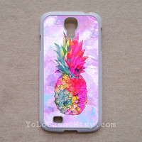 Samsung case, Galaxy s5 case, Galaxy s4 case, Galaxy s3 case, colorful pineapple painting, snap on case, waterproof case, fadeless - YOLO1