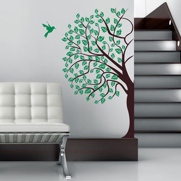 Corner Tree Wall Decal - decorative vinyl decoration