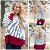 See It My Way Top - BURGUNDY /