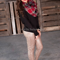 ALL THAT GLITTERS LEGGINGS IN GOLD