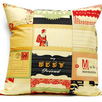 Cosmo Cricket Pillow cover  - 18x18 cushion cover, envelope cover, throw pillow cover