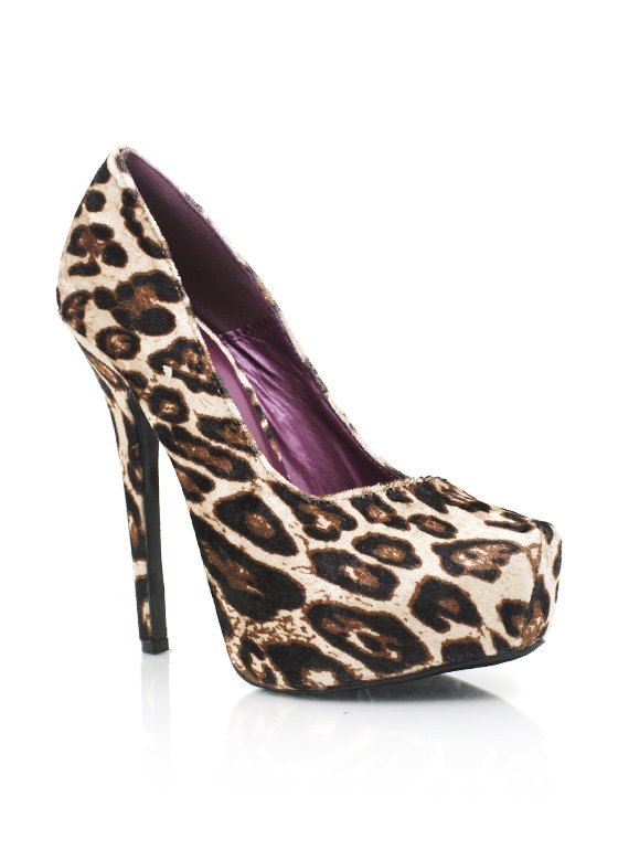 leopard-print-platforms BLACK BROWN - GoJane.com
