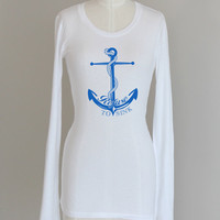 Anchor Refuse To Sink Pima Modal Nautical Long Sleeve Shirt