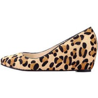 Leopard Grain Wedges Pumps