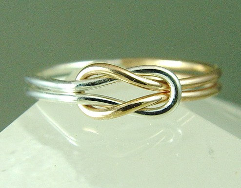 infinity knot ring promise ring from fallingleafjewelry on