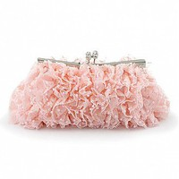 [$24.70 ] Lovely Pink  Floral Lace Evening Handbags/ Clutches With Beadings - Dressilyme.com