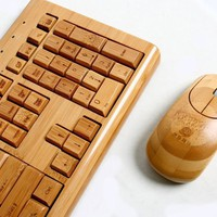 Bamboo Keyboard & Mouse by Impecca