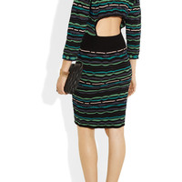 M Missoni | Cutout-back patterned knitted dress | NET-A-PORTER.COM