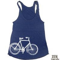 Womens Vintage BIKE american apparel Tri-Blend Racerback Tank Top S M L (9 Color Options)