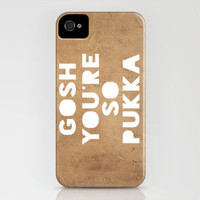 Gosh (Pukka) iPhone Case by Rachel Burbee | Society6
