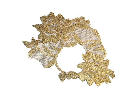 Metallic Gold Lace Half Mask ADHERES TO SKIN (&amp; reusable) by LacedAndWaisted