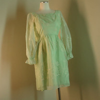 Light Green Vintage Dress