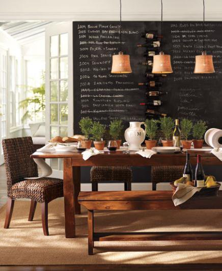 Dining room gallery dining room design from pottery barn for Pottery barn dining room ideas