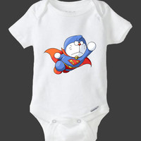 Doraemon Superman baby shirt Onesuits, Baby Onesuits cute, baby shirt Onesuits, Shirt Onesuits ,Gift baby shirt Onesuits
