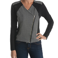 Black Dot Asymmetrical Jacket | zulily