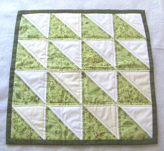 Table Topper, Quilted, Square, Country
