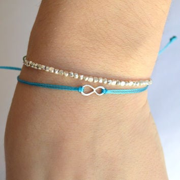 Sterling Silver Infinity Bracelet (51 Colors) SALE